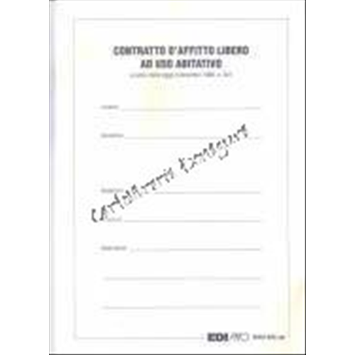Contratto d 39 affitto libero ad uso abitativo ebay for Affitto senza contratto