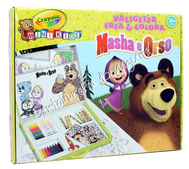 Masha e orso valigetta crea colora masha e orso for Masha e orso stampa e colora
