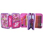 Astuccio 3 zip Pen Pad Rosa High Tech SJ Girl Gang Seven