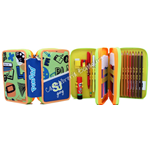 Astuccio 3 zip Pen Pad Verde High Tech SJ Boy Gang Seven