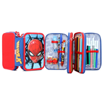Astuccio 3 Zip Spiderman