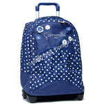 Zaino Big Trolley Blu Flowers & Dots Camomilla
