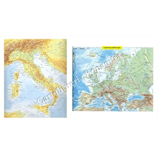 Cartina Geografica Europa Da Stampare.Cartina Geografica Fisica Politica Plastificata Europa Cartolibreria Bonagura