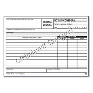 BLOCCO DOCUMENTO DI TRASPORTO TENTATA VENDITA 50//50 fogli 228x297 Per #0478